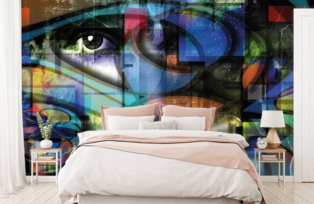 Papier peint moderne - Visage abstrait - Salle de séjour 5