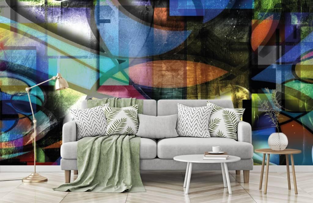 Papier peint moderne - Visage abstrait - Salle de séjour 7