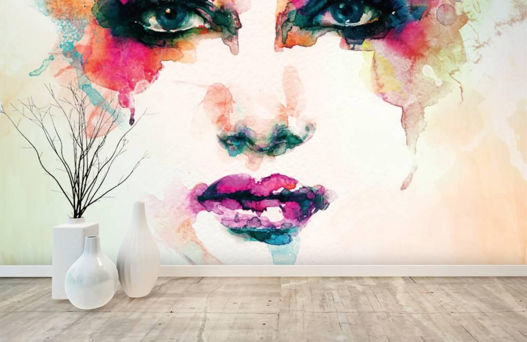 Portraits et visages - Tête abstraite - Salle de séjour 1