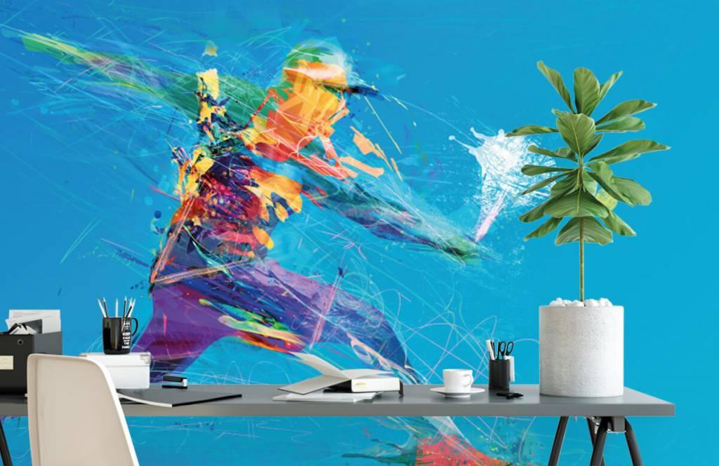 Autre - Joueur de tennis illustré - Salle de Loisirs 2