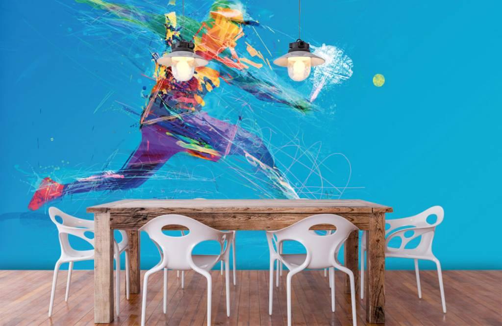 Autre - Joueur de tennis illustré - Salle de Loisirs 7