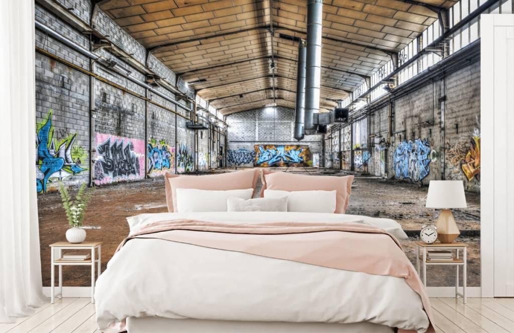 Bâtiments - Vieux hall d'usine abandonnée - Chambre d'adolescent 2