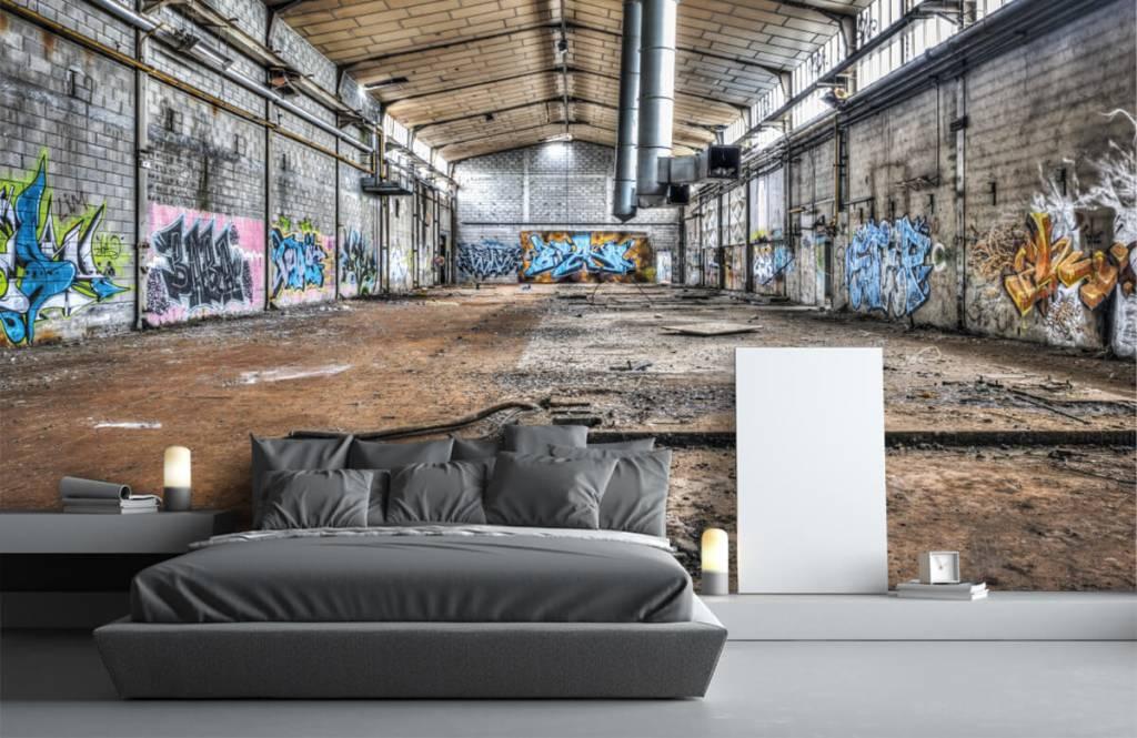 Bâtiments - Vieux hall d'usine abandonnée - Chambre d'adolescent 3