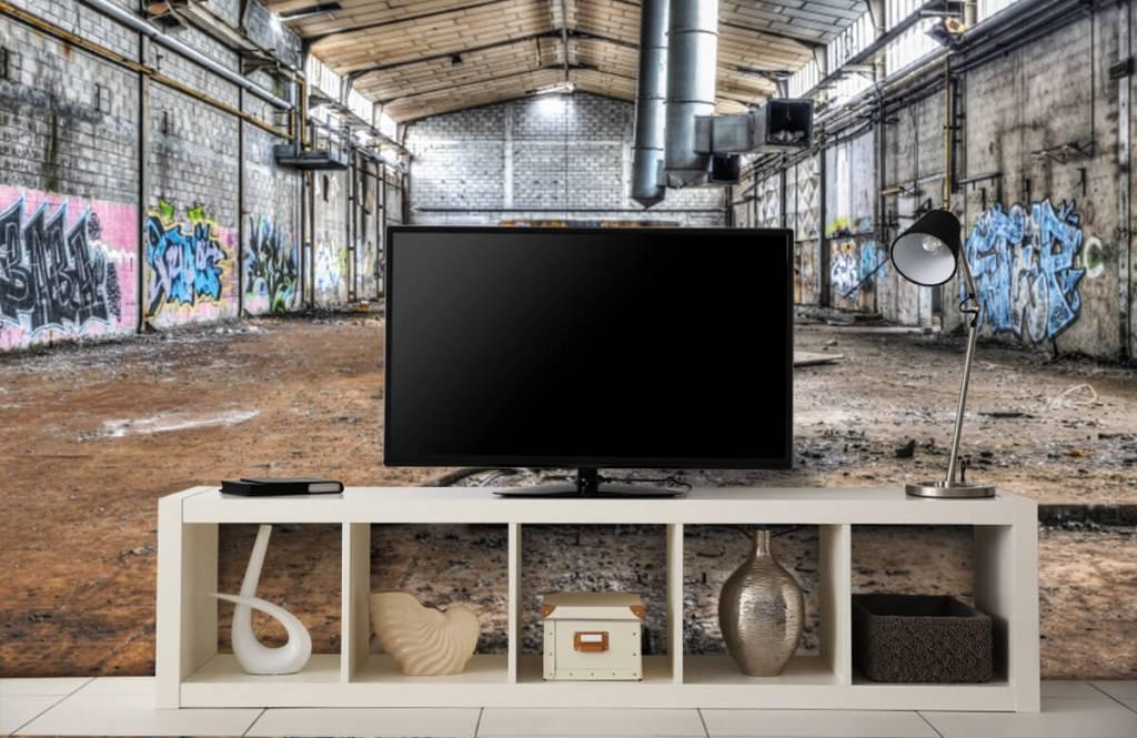 Bâtiments - Vieux hall d'usine abandonnée - Chambre d'adolescent 5