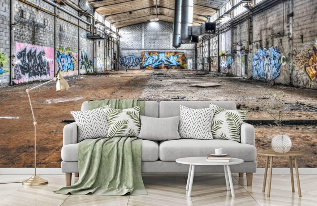 Bâtiments - Vieux hall d'usine abandonnée - Chambre d'adolescent 7