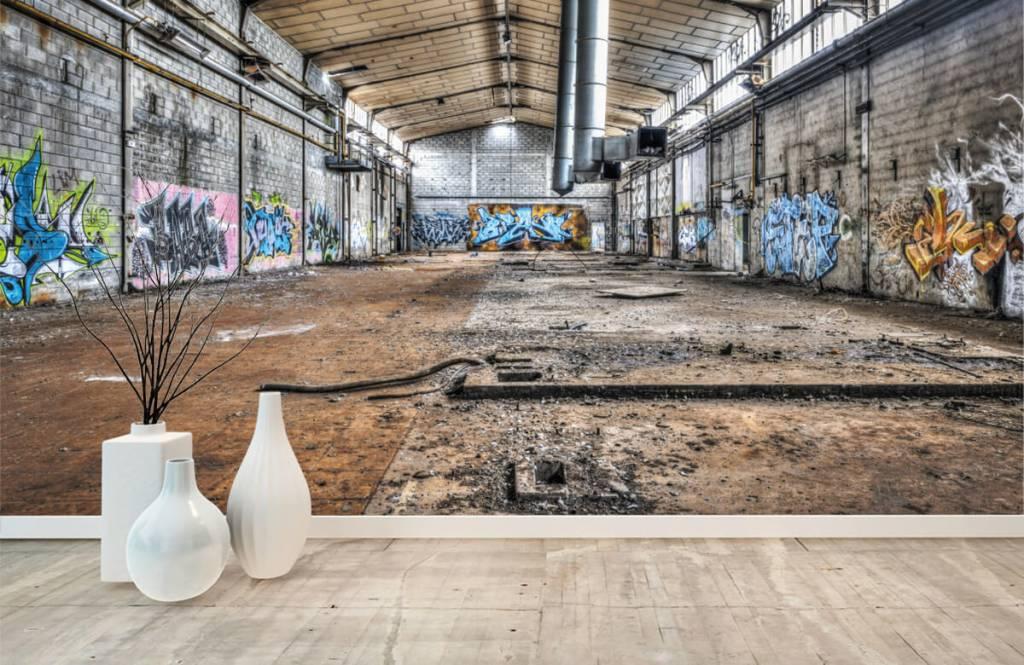Bâtiments - Vieux hall d'usine abandonnée - Chambre d'adolescent 8