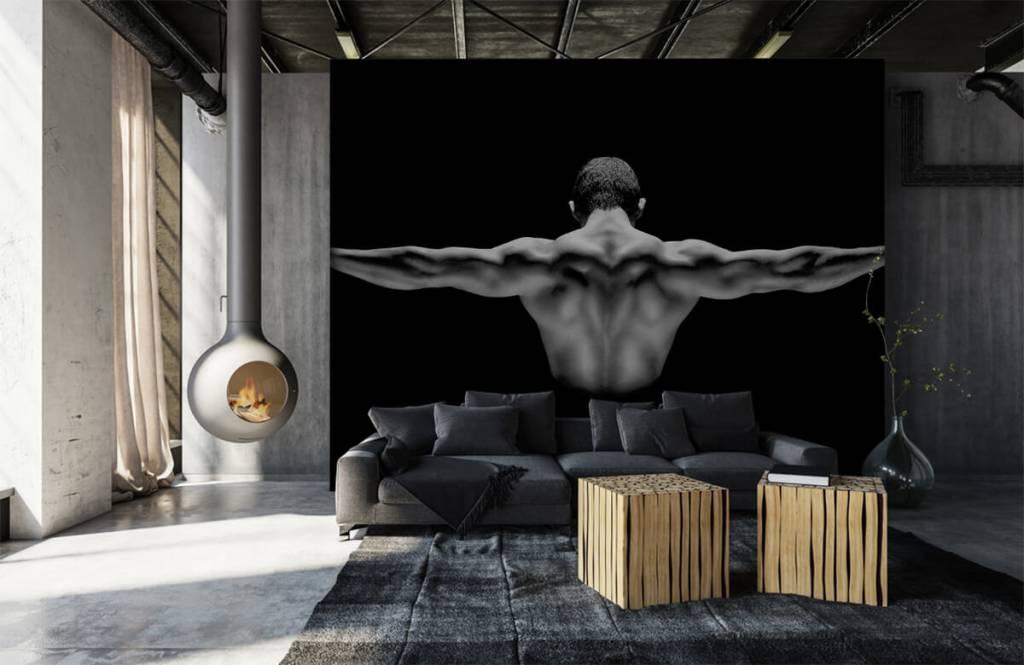 Fitness - Homme aux bras tendus - Entrepôt 1