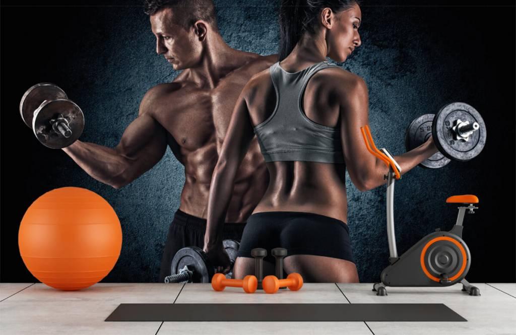 Fitness - Couple athlétique - Salle de Loisirs 1