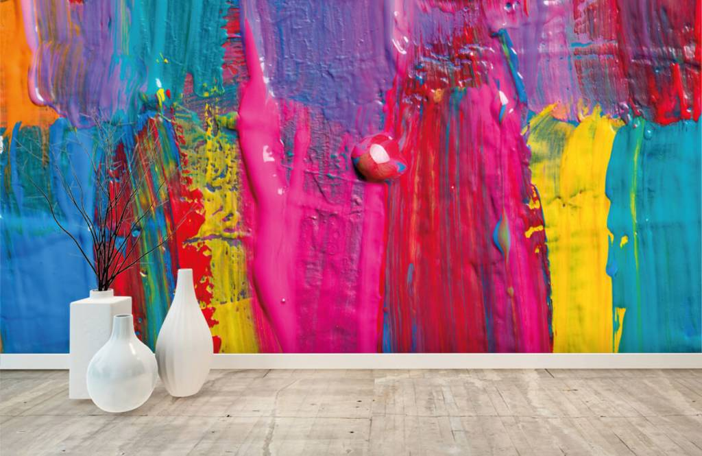 Papier peint moderne - Peinture colorée - Salle de conférence 1