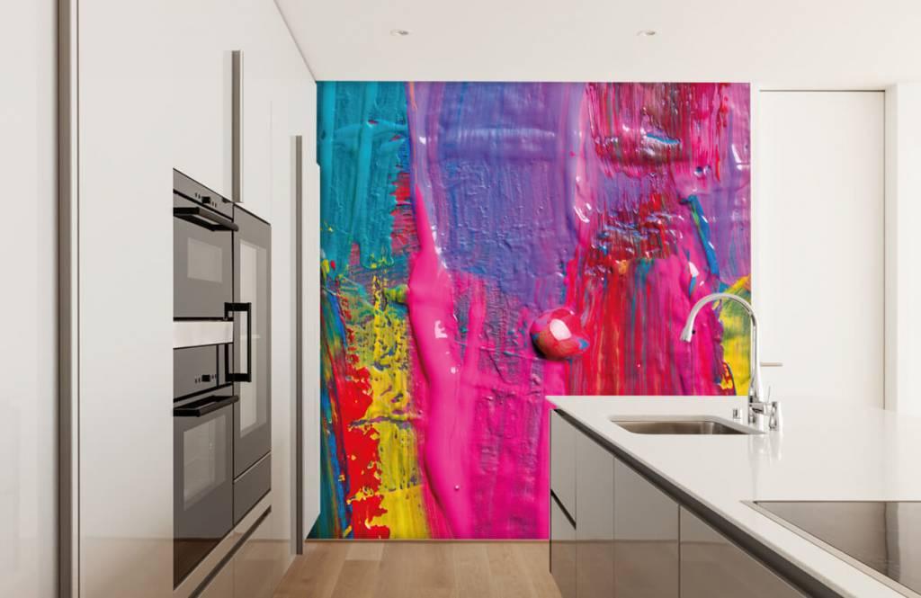 Papier peint moderne - Peinture colorée - Salle de conférence 2