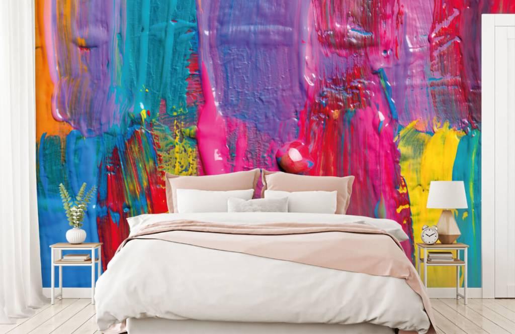 Papier peint moderne - Peinture colorée - Salle de conférence 3