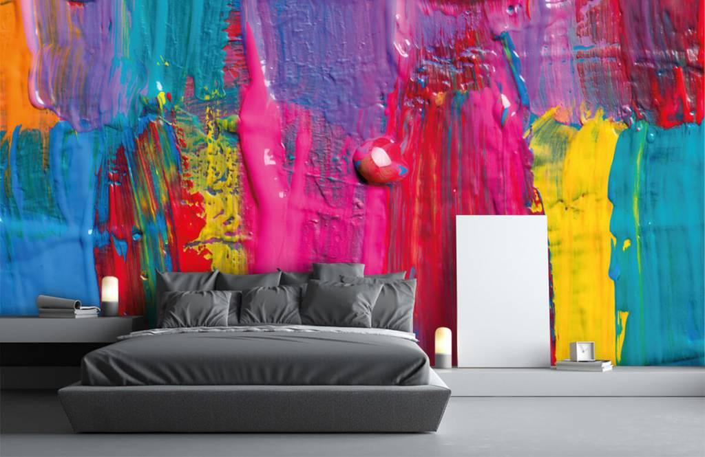 Papier peint moderne - Peinture colorée - Salle de conférence 4