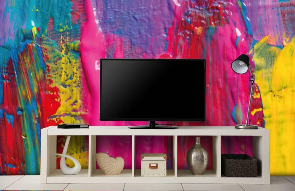 Papier peint moderne - Peinture colorée - Salle de conférence 5