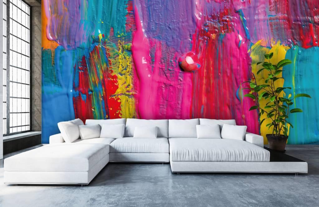 Papier peint moderne - Peinture colorée - Salle de conférence 6