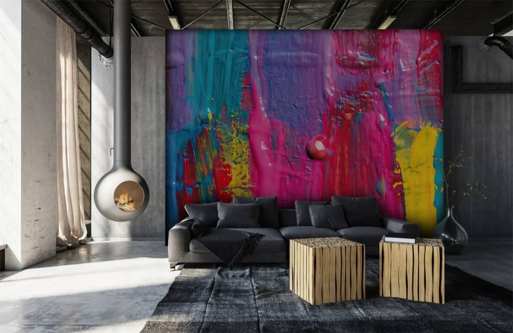 Papier peint moderne - Peinture colorée - Salle de conférence 7