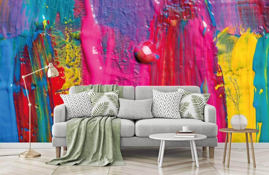 Papier peint moderne - Peinture colorée - Salle de conférence 8