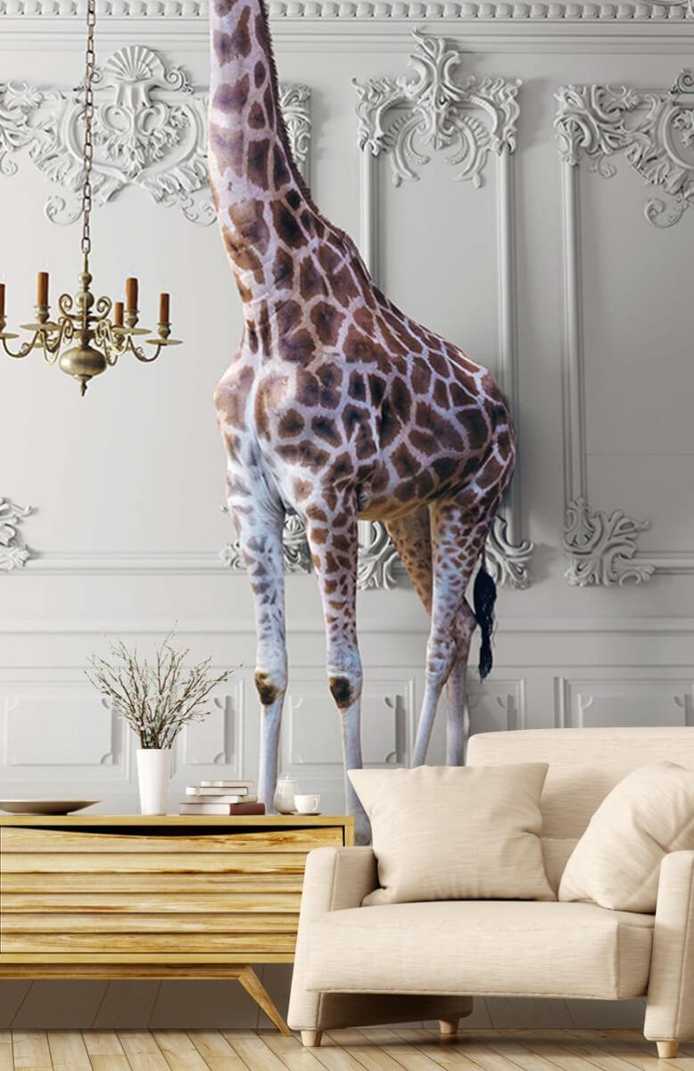 3D Girafe avec chandelier 5