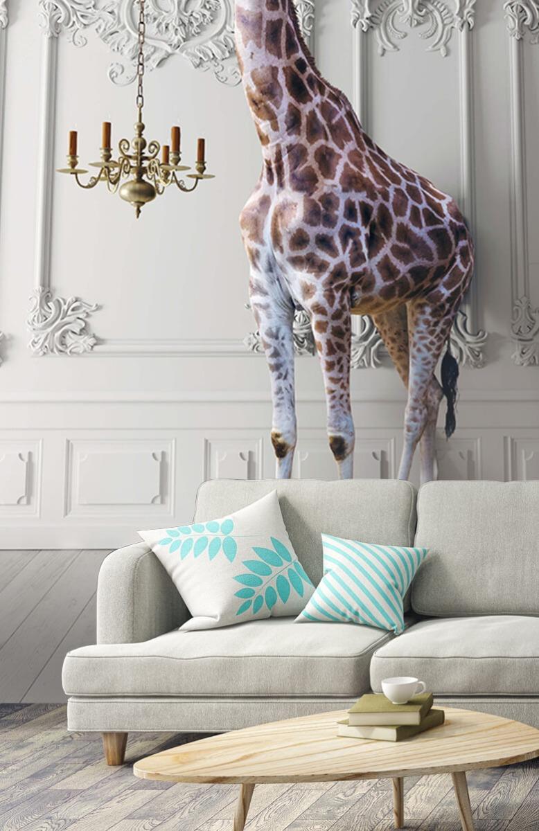 3D Girafe avec chandelier 1