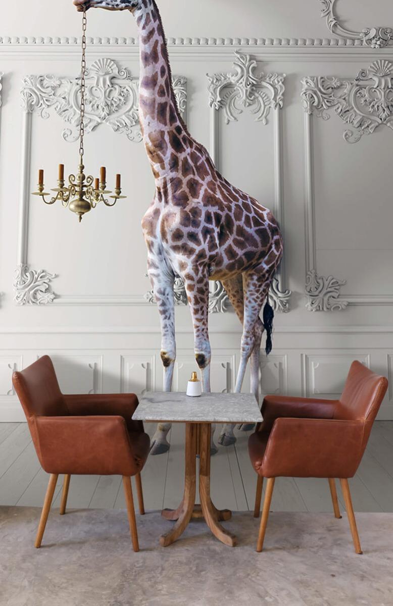 3D Girafe avec chandelier 6