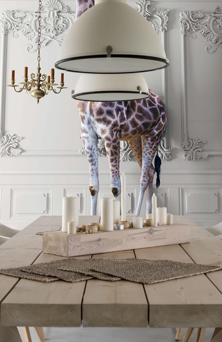 3D Girafe avec chandelier 7