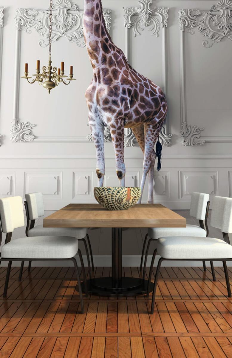 3D Girafe avec chandelier 8