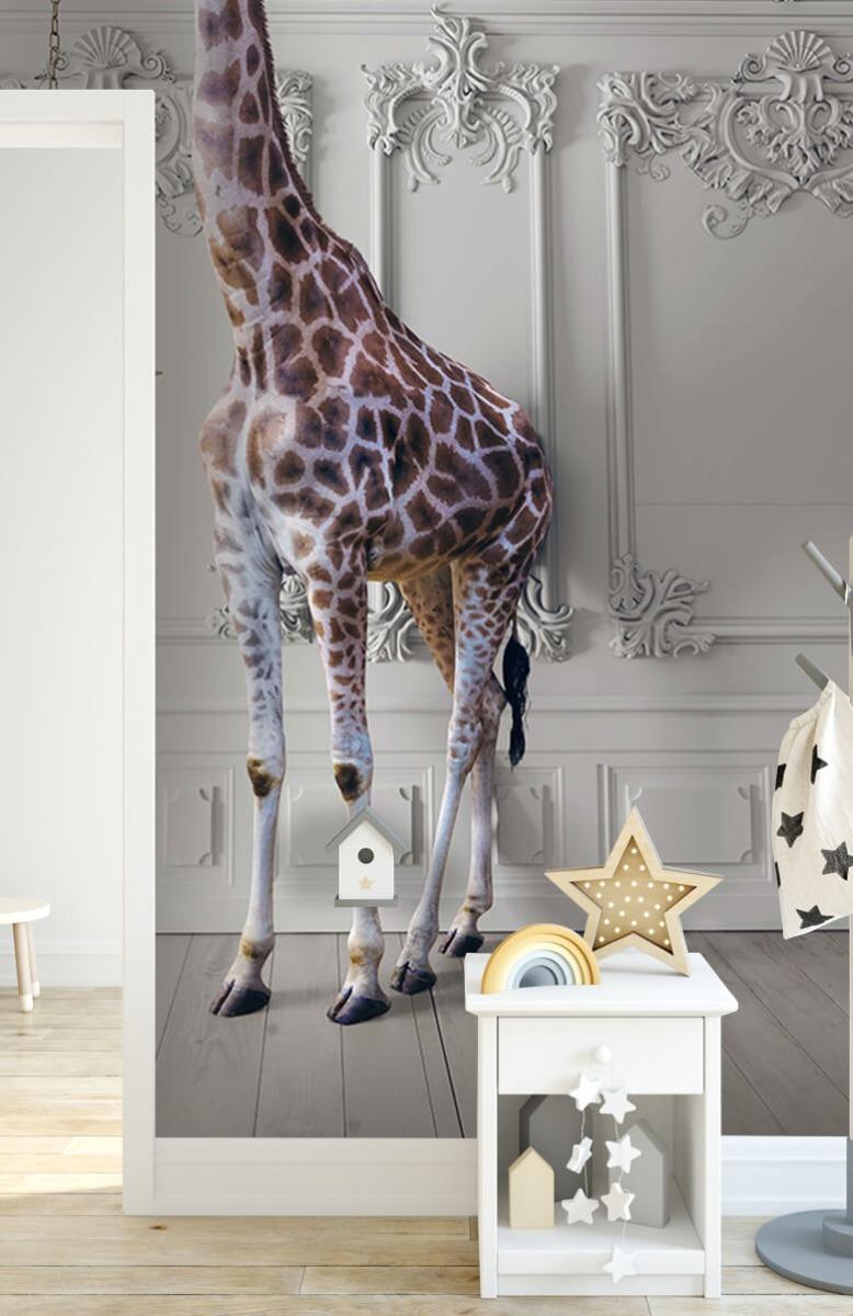 3D Girafe avec chandelier 2