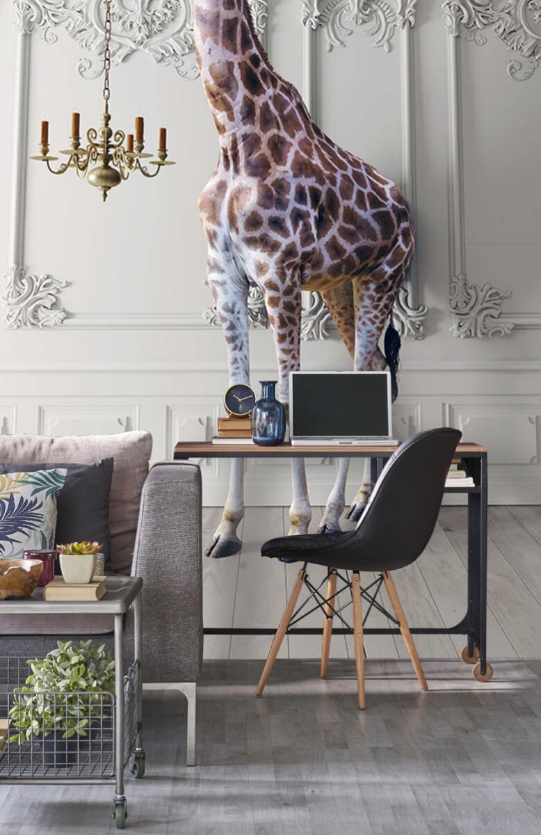 3D Girafe avec chandelier 4
