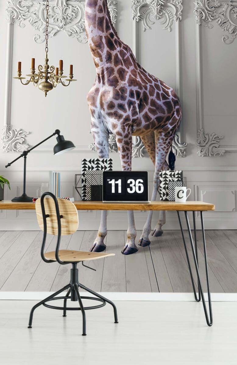 3D Girafe avec chandelier 9