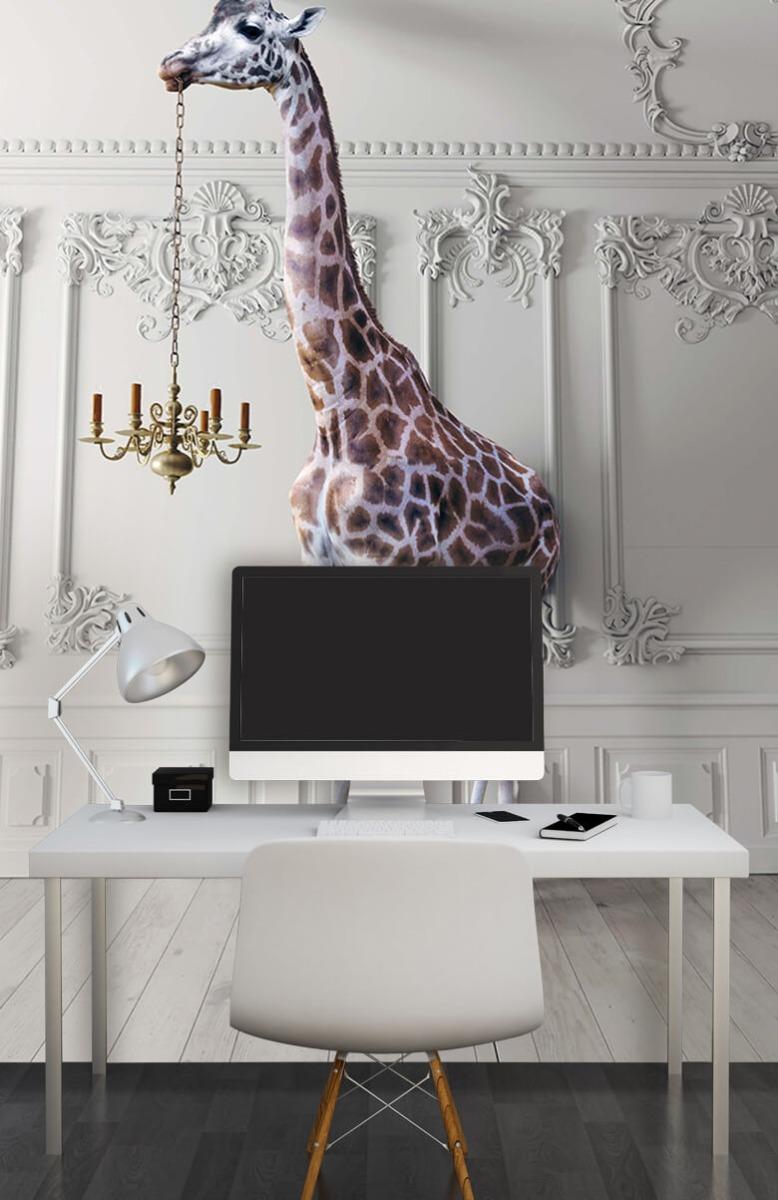 3D Girafe avec chandelier 10