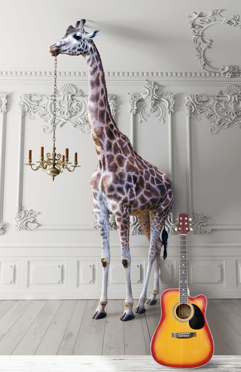 3D Girafe avec chandelier 11