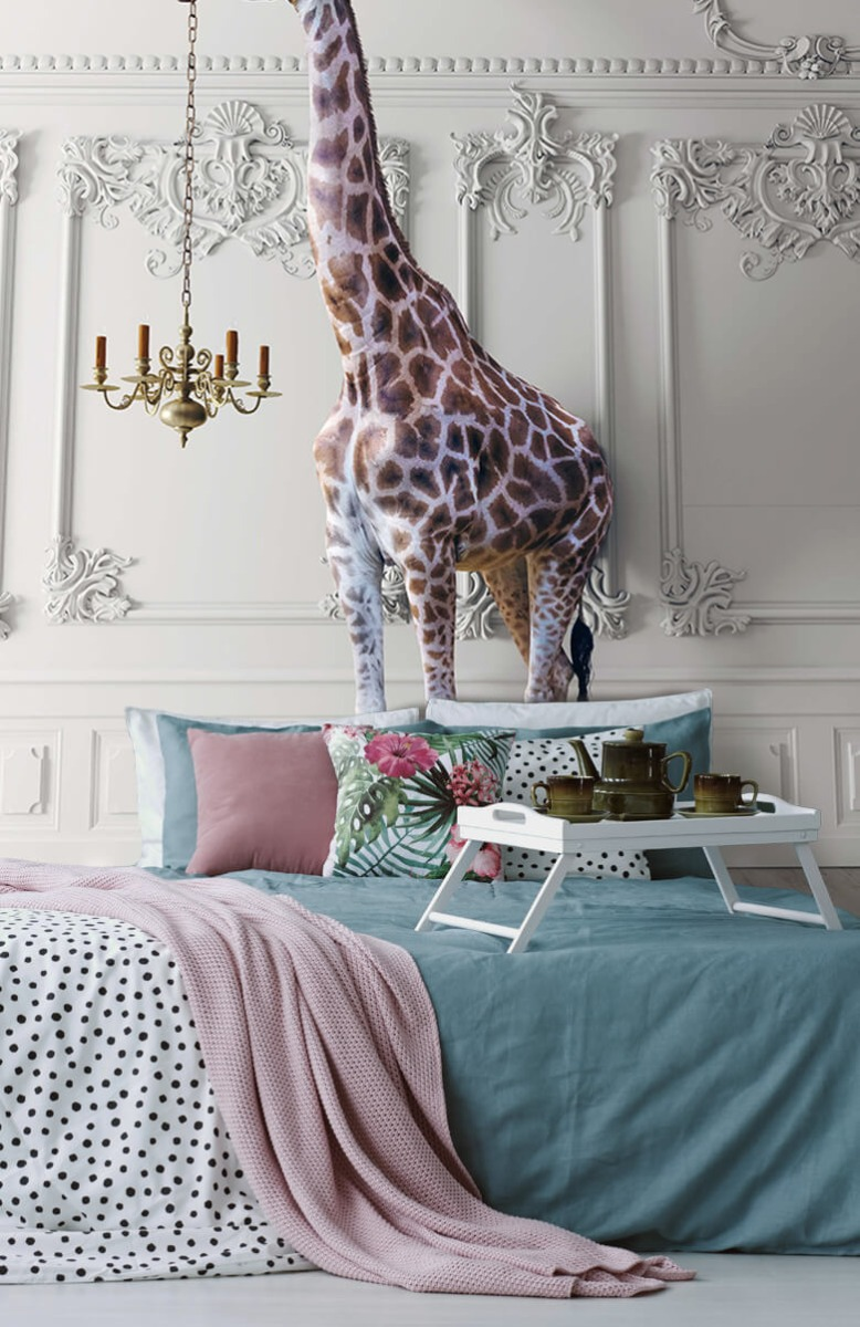 3D Girafe avec chandelier 12