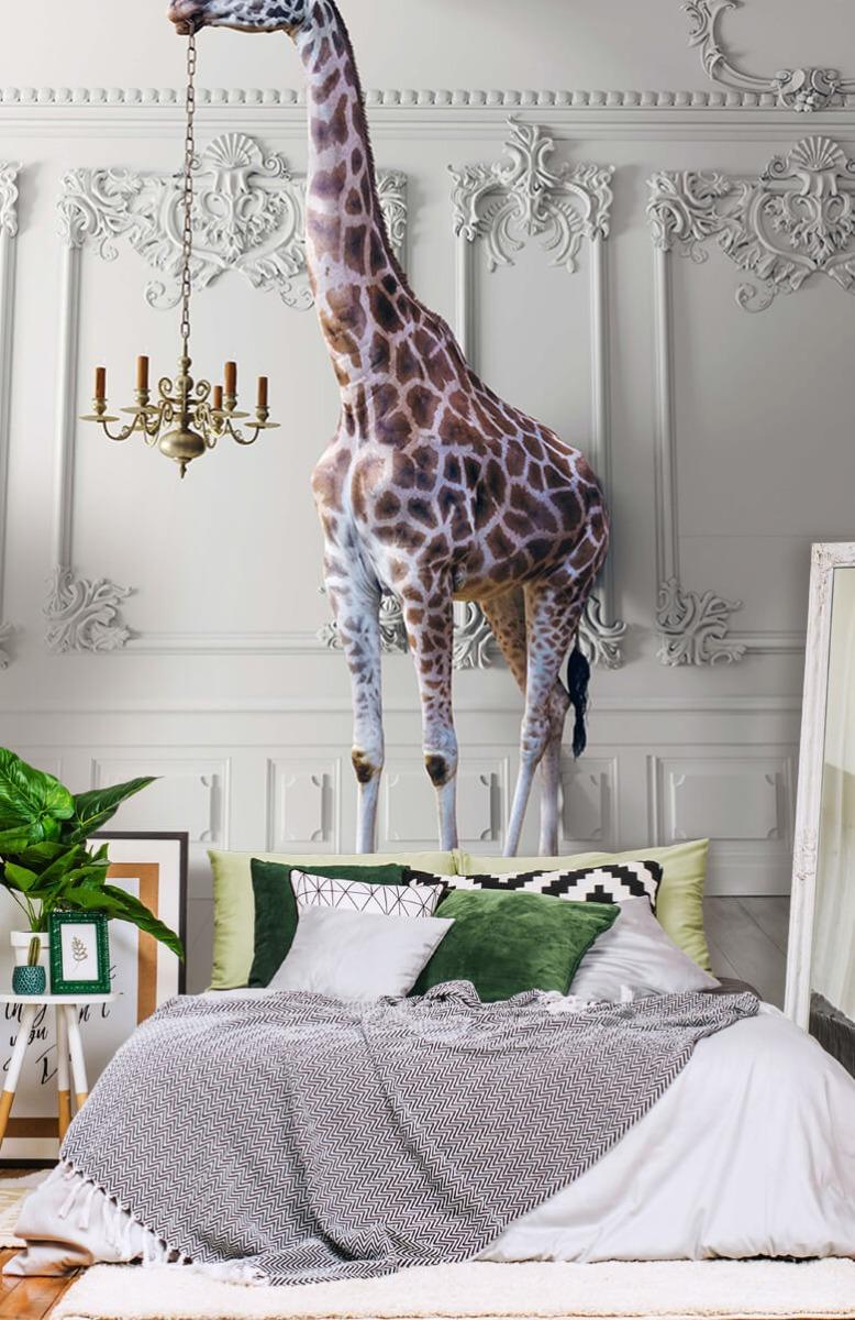 3D Girafe avec chandelier 13