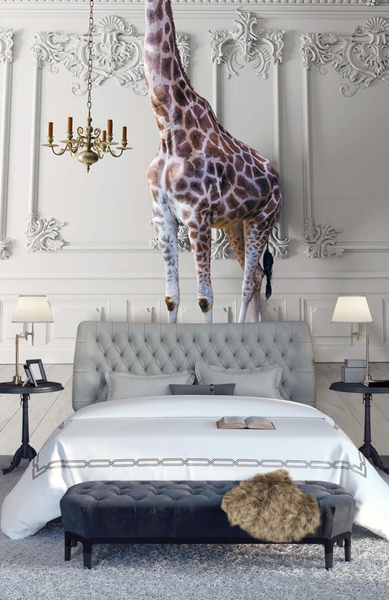 3D Girafe avec chandelier 14