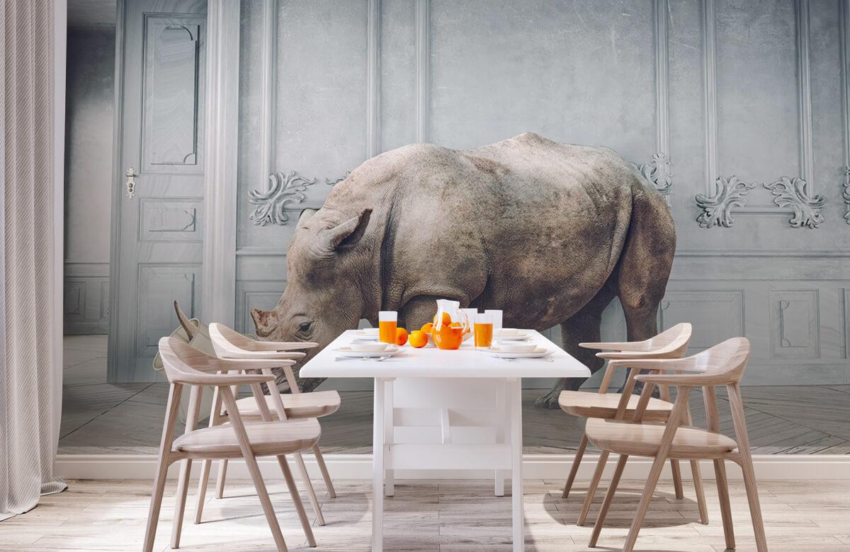3D Rhinocéros avec abat-jour 9