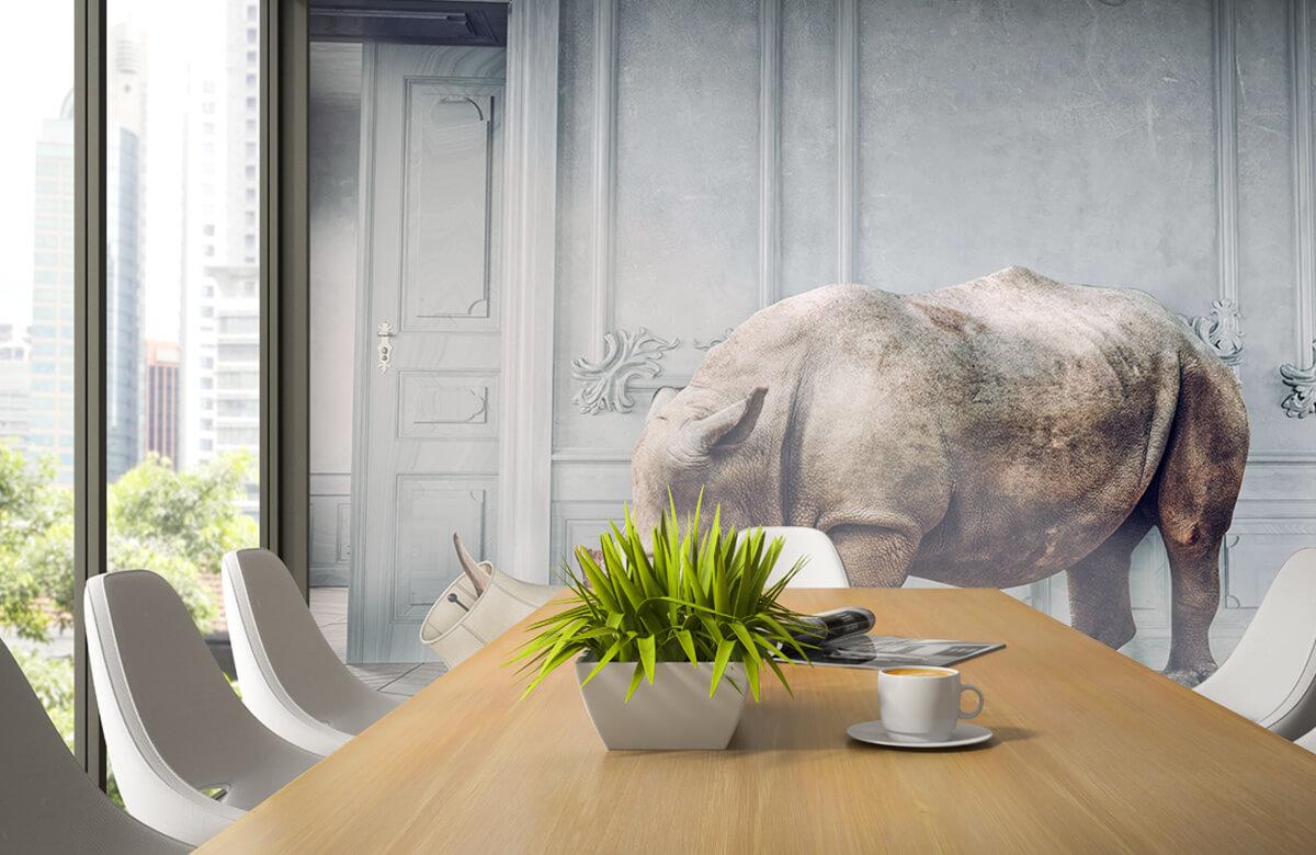 3D Rhinocéros avec abat-jour 2