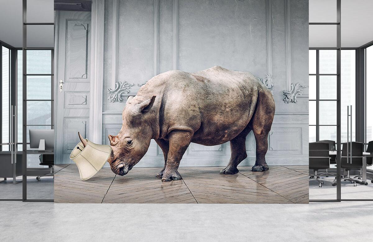3D Rhinocéros avec abat-jour 3