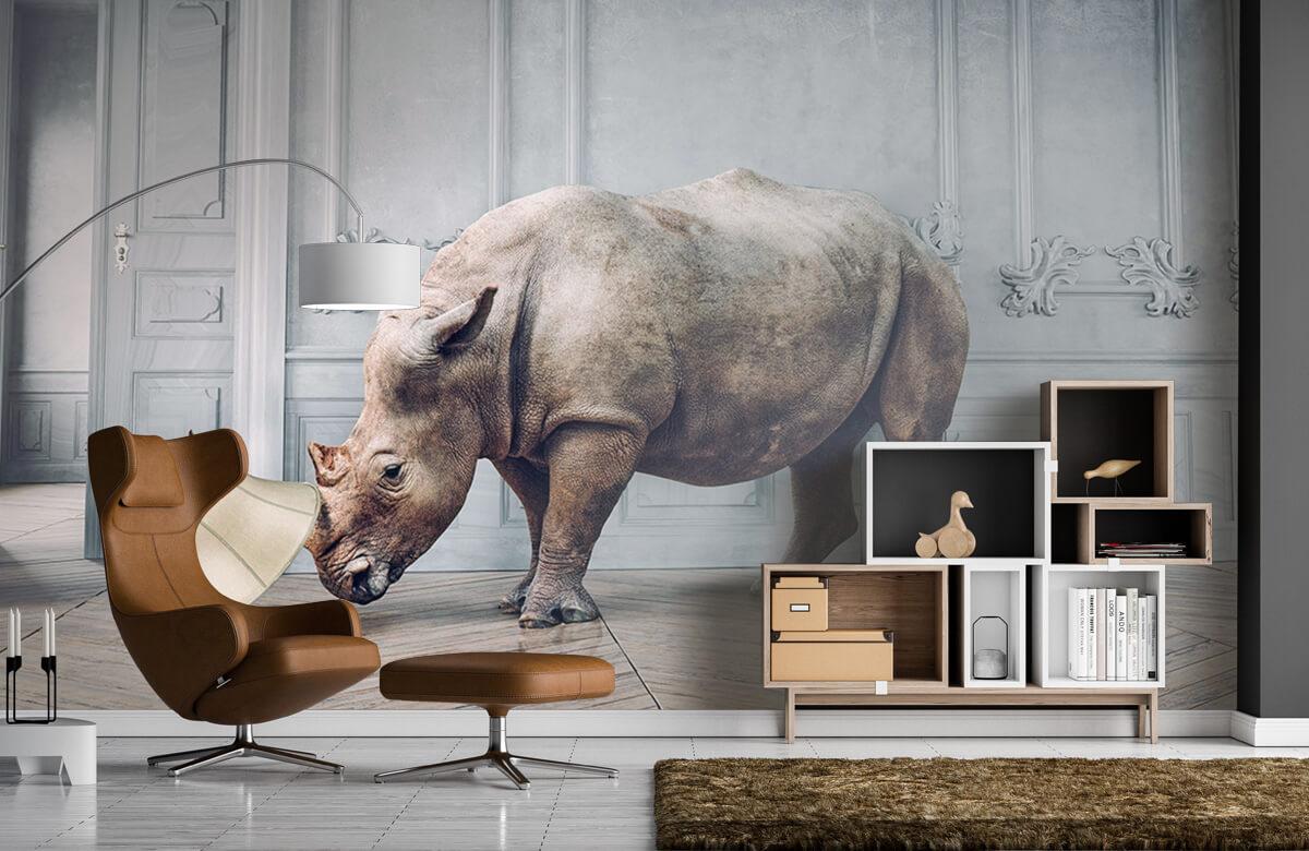 3D Rhinocéros avec abat-jour 4