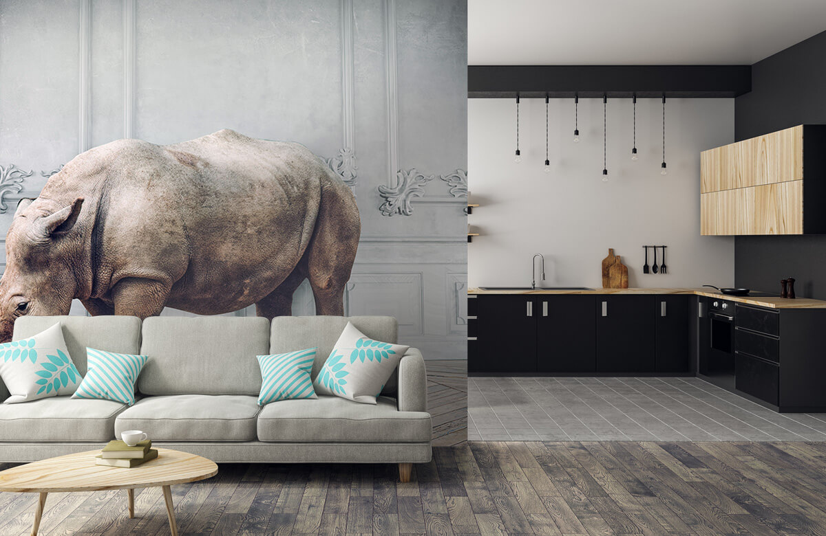 3D Rhinocéros avec abat-jour 5