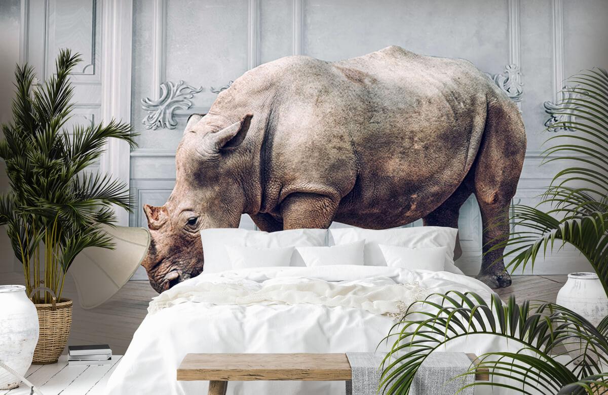 3D Rhinocéros avec abat-jour 7