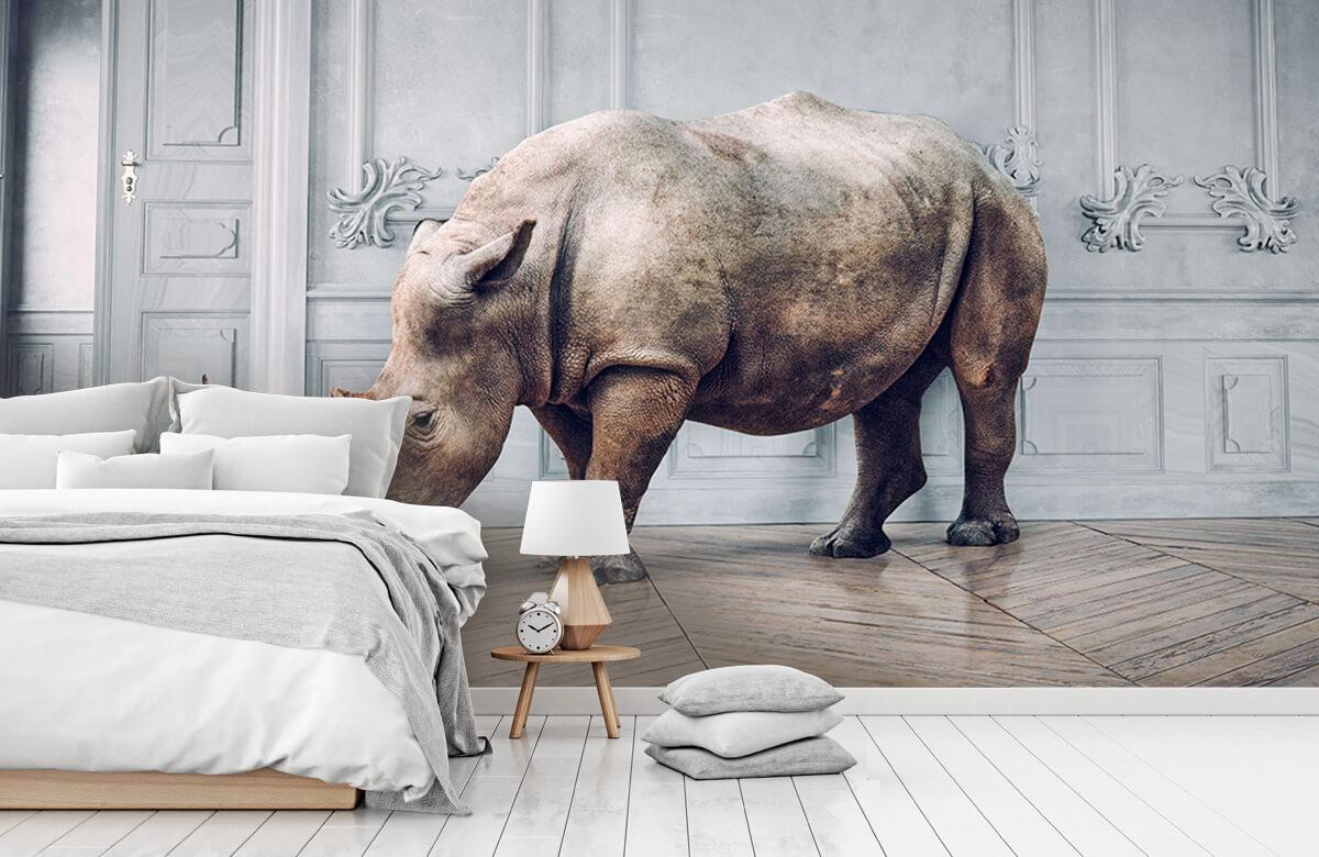 3D Rhinocéros avec abat-jour 8