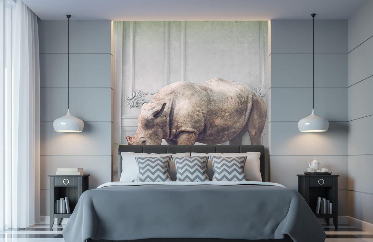 3D Rhinocéros avec abat-jour 6