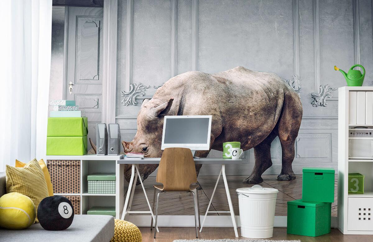 3D Rhinocéros avec abat-jour 10