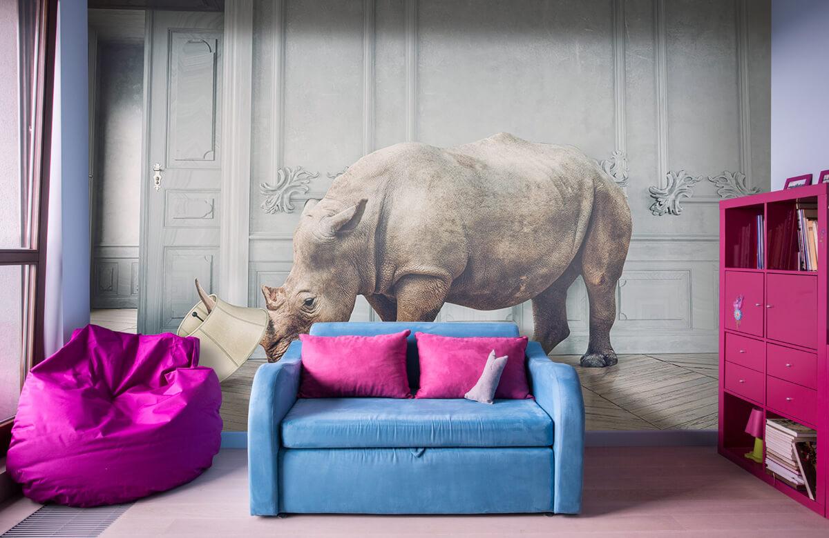 3D Rhinocéros avec abat-jour 1