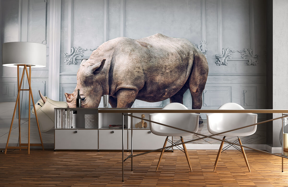 3D Rhinocéros avec abat-jour 11