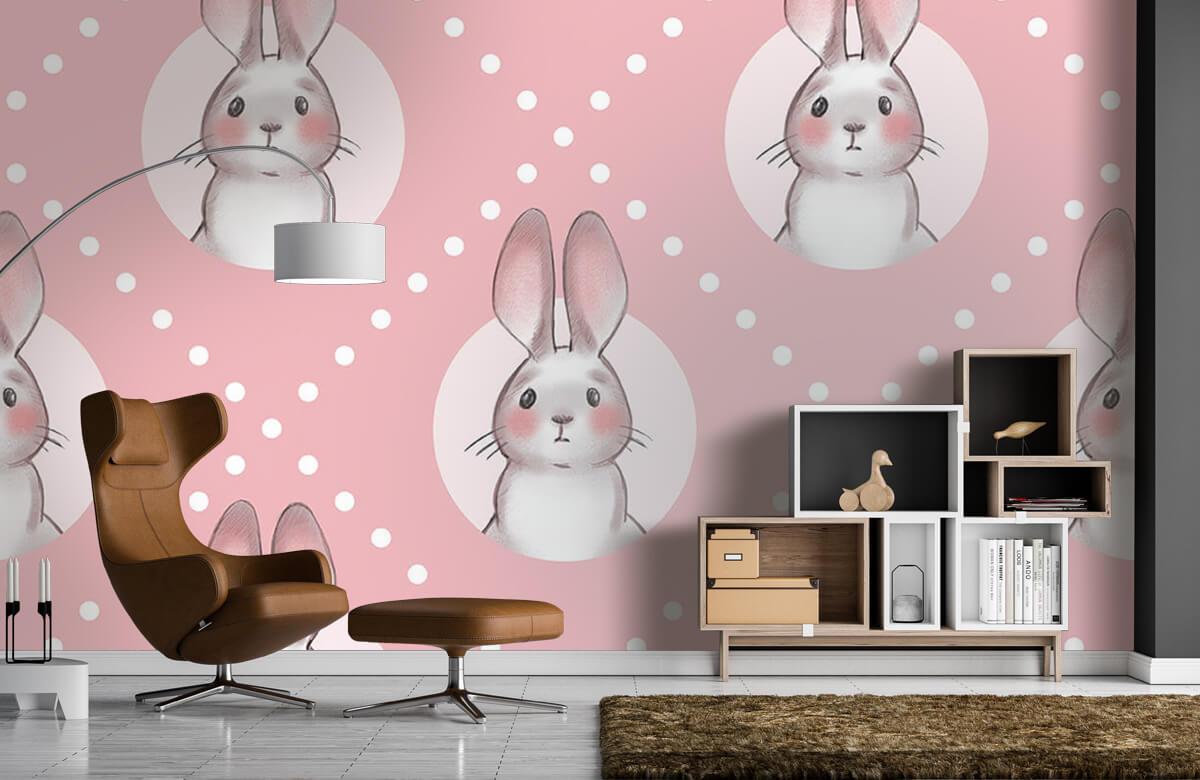 Pattern Motif de lapin rose 9