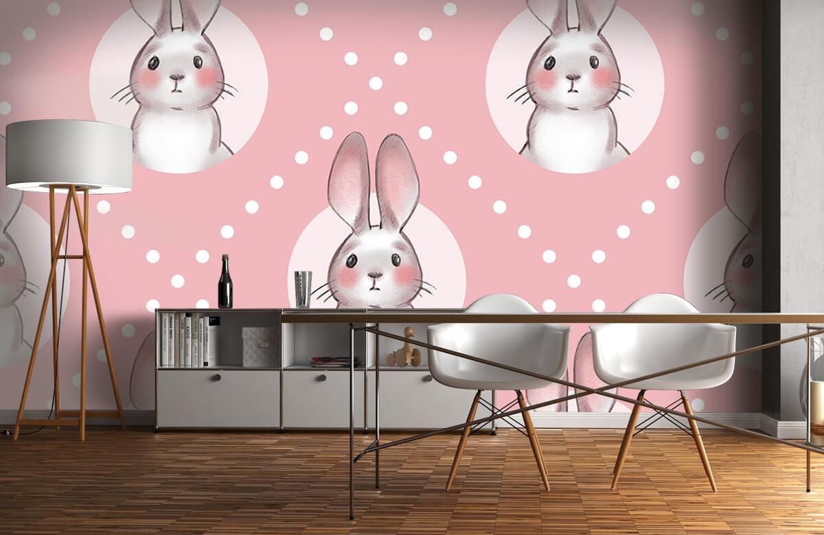 Pattern Motif de lapin rose 5