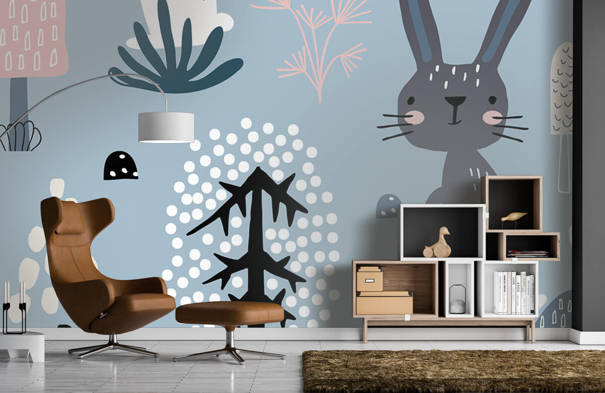 Pattern Motif de lapin bleu 7