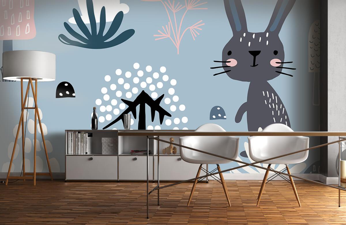 Pattern Motif de lapin bleu 10