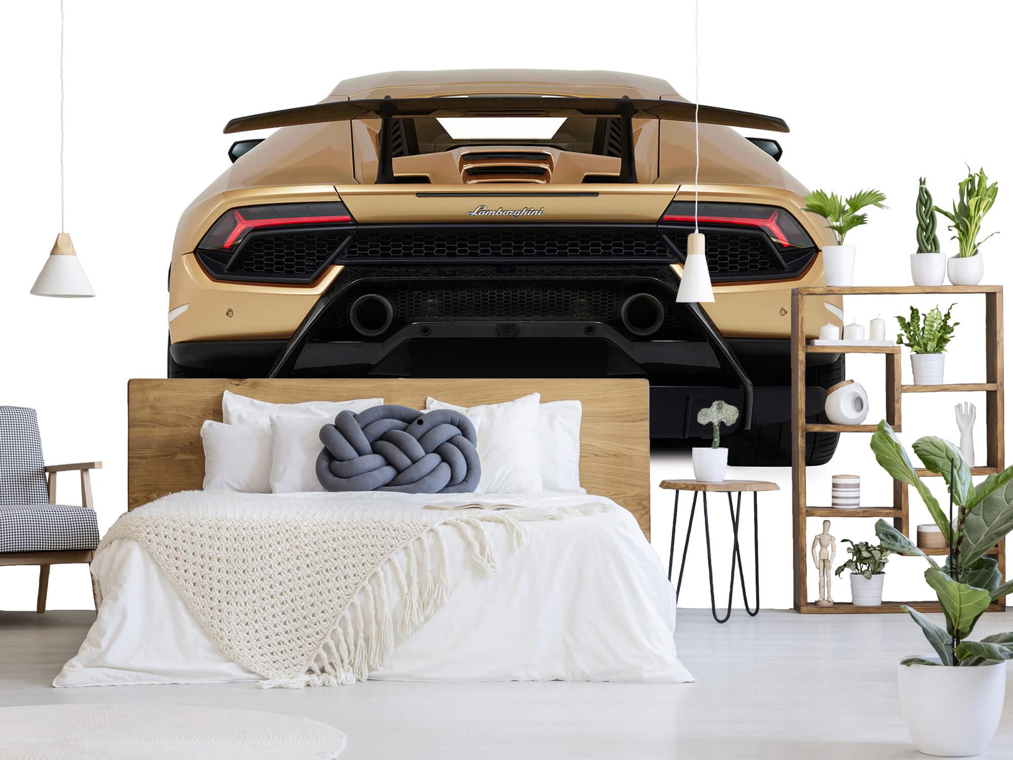 Wallpaper Lamborghini Huracán - Vue arrière, blanc 6
