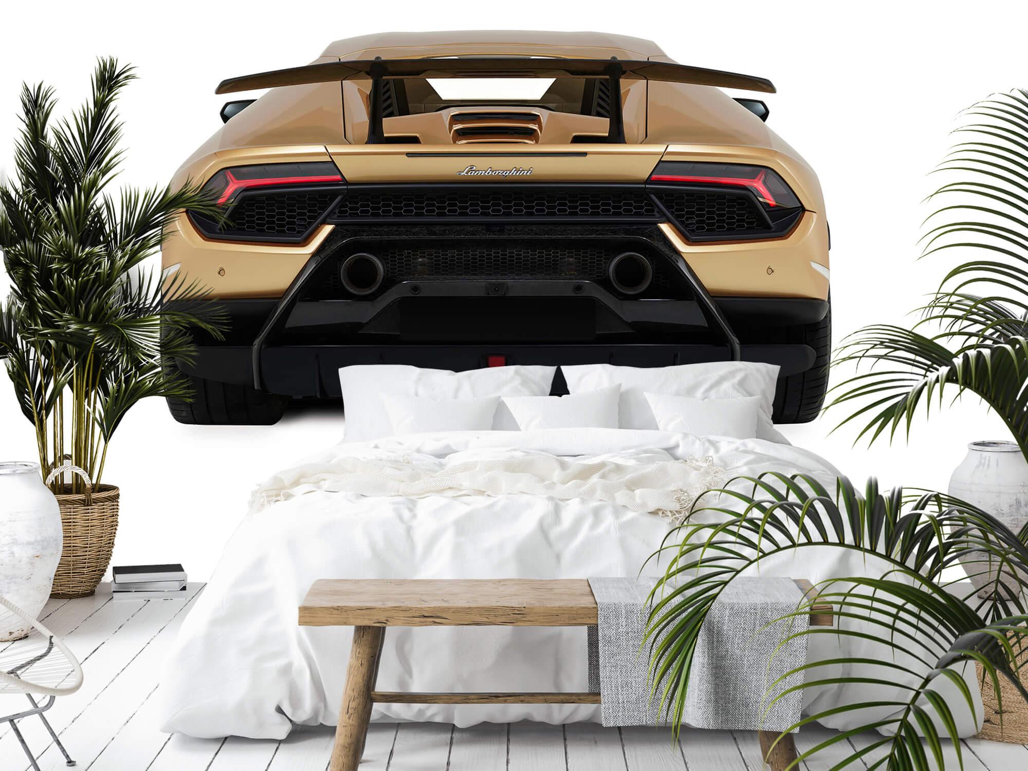 Wallpaper Lamborghini Huracán - Vue arrière, blanc 12